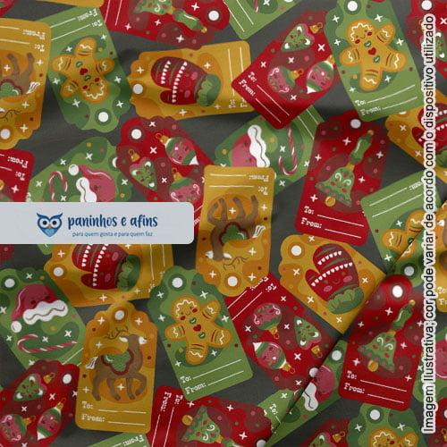 Original Christmas 06 - Coleção Original Christmas - Fabricart - 50cm X 150cm