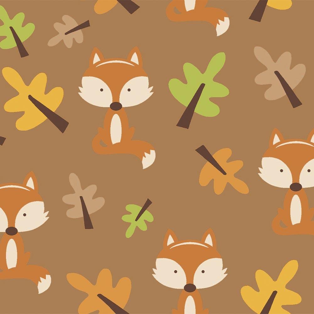 Raposas e Árvores - Coleção Outono - Linha Signature - Fabricart - 50cm X 150cm