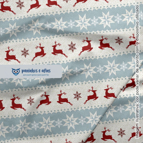 Winter Christmas 01 - Coleção Winter Christmas - Fabricart - 50cm X 150cm
