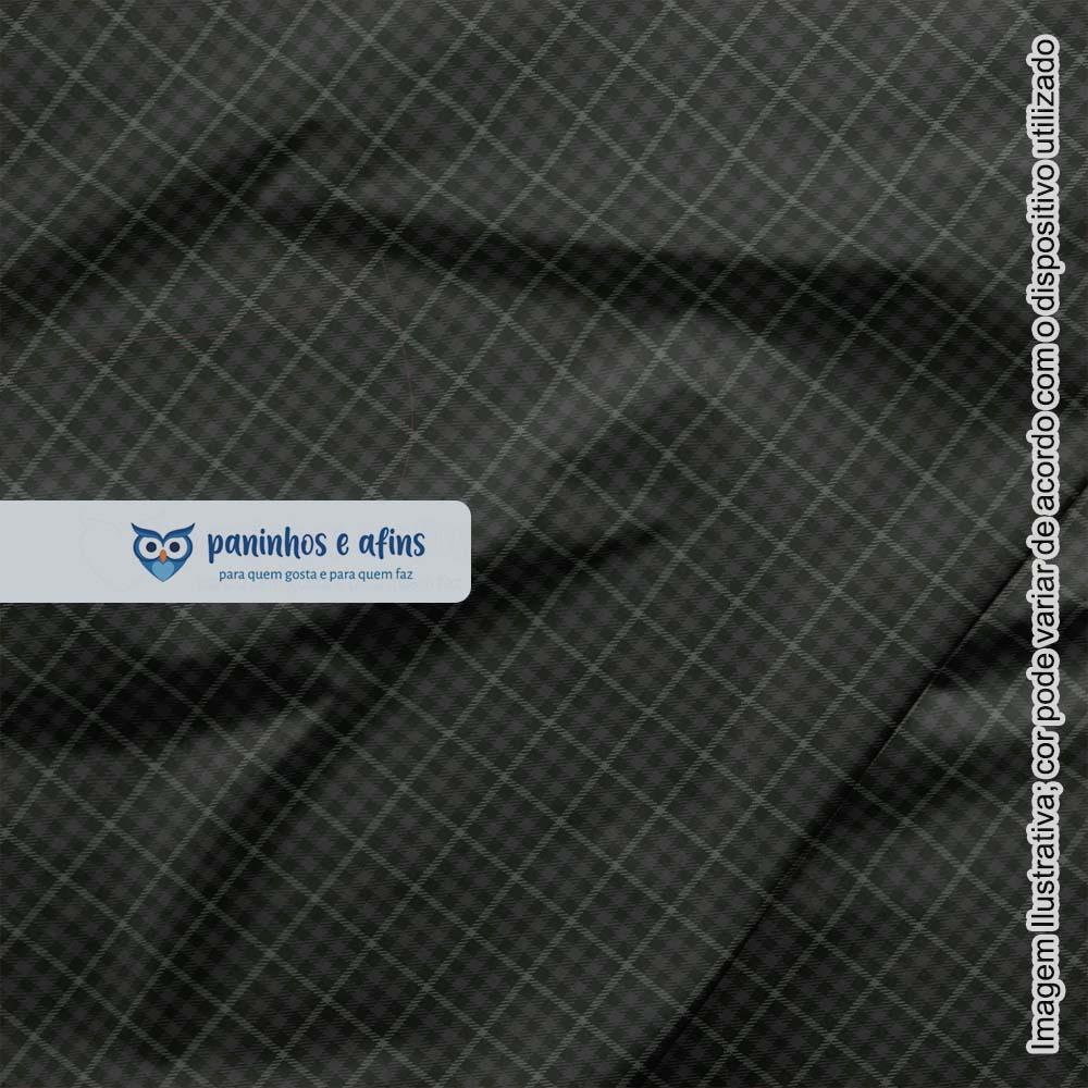 Xadrez Inverness Chumbo 5 - Coleção Xadrez Tartan - Fabricart - 50cm X 150cm