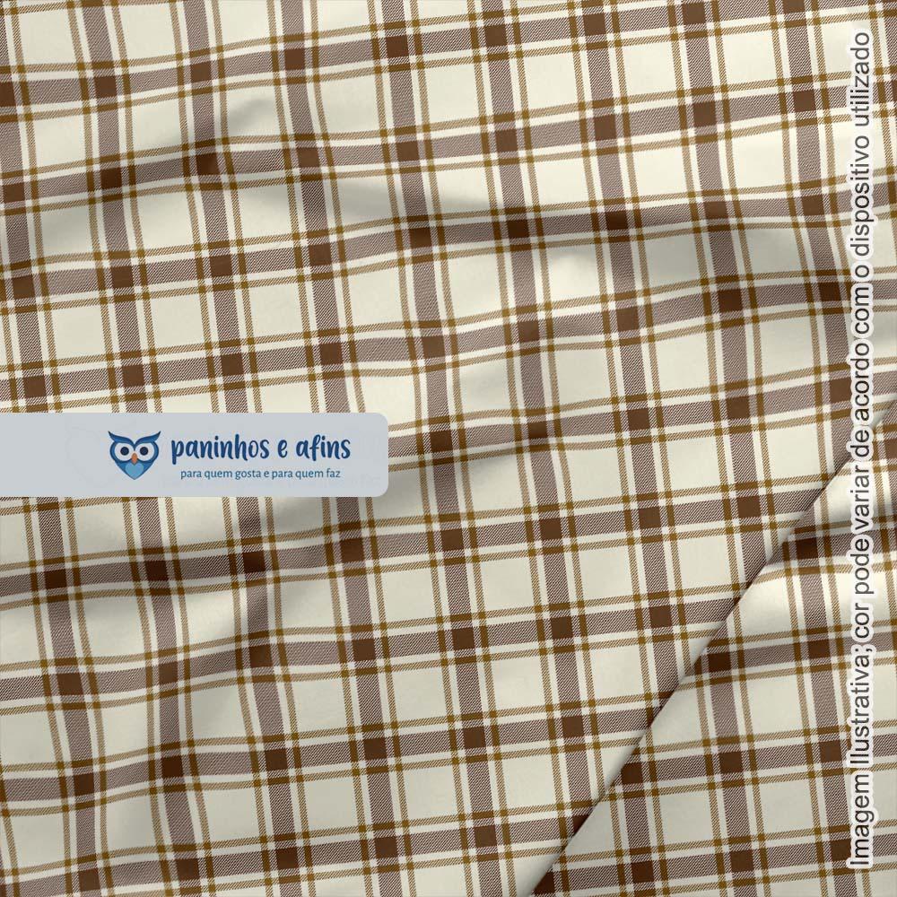 Xadrez Perth Caramelo 3 - Coleção Xadrez Tartan - Fabricart - 50cm X 150cm