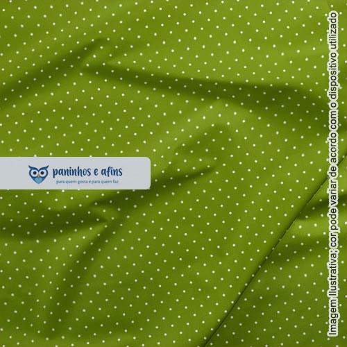 Micro Poá Verde Pera - Basics & Colors - Fabricart - 50cm x150cm