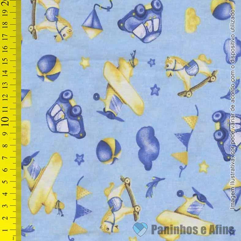 Toys Fundo Azul Caldeira  - 50cm X 150cm