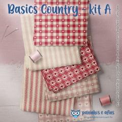 Kit Basics Country A - Fabricart - 6 Cortes de Aprox. 50cm x 75cm de cada Estampa
