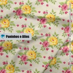 Bouquet Creme - Coleção Beautiful Smile  - Fabricart - 50cm X 150cm