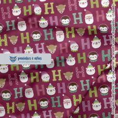 Candy Christmas 11 - Coleção Candy Christmas - Fabricart - 50cm X 150cm