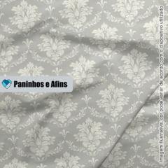 Damask Cinza - Coleção Beautiful Smile  - Fabricart - 50cm X 150cm