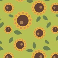 Flor Raio de Sol Verde - Coleção Outono - Linha Signature - Fabricart - 50cm X 150cm