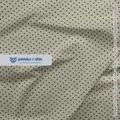 Poá Azul no Cinza - Coleção Basics & Colors - Fabricart - 50cm X 150cm