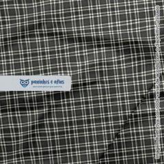 Xadrez Dundee Chumbo 4 - Coleção Xadrez Tartan - Fabricart - 50cm X 150cm