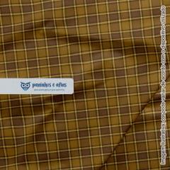 Xadrez Edimburgo Caramelo 1 - Coleção Xadrez Tartan - Fabricart - 50cm X 150cm