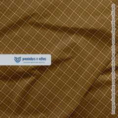 Xadrez Inverness Caramelo 5 - Coleção Xadrez Tartan - Fabricart - 50cm X 150cm