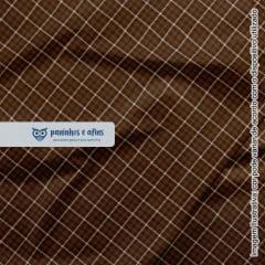 Xadrez Inverness Marrom 5 - Coleção Xadrez Tartan - Fabricart - 50cm X 150cm