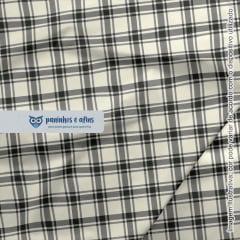 Xadrez Perth Chumbo 3 - Coleção Xadrez Tartan - Fabricart - 50cm X 150cm