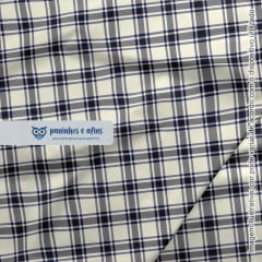 Xadrez Perth Marinho 3 - Coleção Xadrez Tartan - Fabricart - 50cm X 150cm