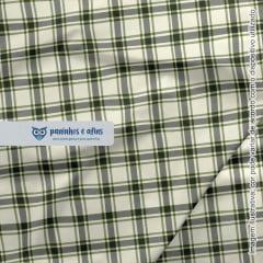 Xadrez Perth Oliva 3 - Coleção Xadrez Tartan - Fabricart - 50cm X 150cm