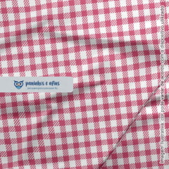 Xadrez Pink - Coleção Basics & Colors - Fabricart - 50cm X 150cm
