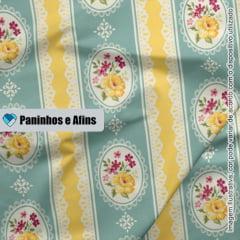 Moldura Tiffany - Coleção Beautiful Smile  - Fabricart - 50cm X 150cm
