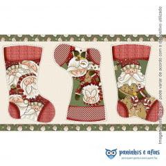 Painel Botas Natal - COLEÇÃO HAPPY CHRISTMAS - Fuxicos e Fricotes - Digital - Aprox 50cm X 85cm