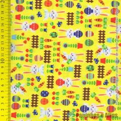 Páscoa Fundo Amarelo - Páscoa  - Estilotex - 50cm X 150cm