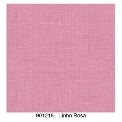 Tricoline com Estampa que Imita Linho Rosa - 20cm X 150cm