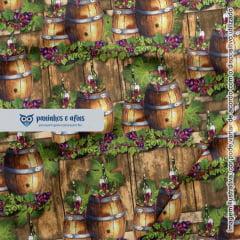 Barris - Coleção Vinícola - Digital - Fabricart -  50cm x 150cm