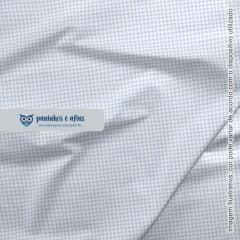 Basics Pied de Poule Azul Candy - Coleção Basics Baby - Fabricart - 50cm X 150cm