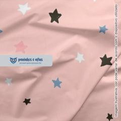 Estrelinhas Rosa - Coleção Sweet Dreams - Linha Signature - Fabricart - 50CM X 150CM