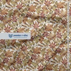 Fall Leaves - Coleção Magic Fall  by Anita Catita - Digital - Fabricart -  50cm x 150cm