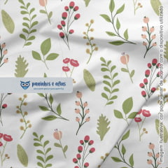 Folhas - Coleção Botânica - Fabricart - 50cm X 150cm