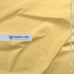 Micro Poá Amarelo Sol - Basics & Colors - Fabricart - 50cm X 150cm