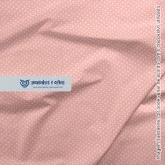 Micro Poá Rose - Basics & Colors - Fabricart - 50cm X 150cm