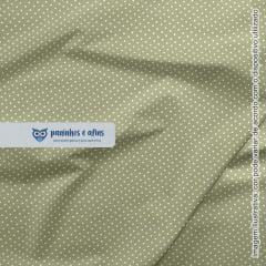 Micro Poá Verde Maçã - Basics & Colors - Fabricart - 50cm X 150cm