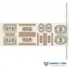 Painel Necessaire Kokeshi - Coleção Kokeshi - Fuxicos e Fricotes - Digital - 50cm X 150cm