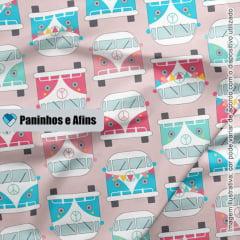 Peruas Frontais - Coleção Peace and Love - Linha Signature - Fabricart - 50CM X 150CM