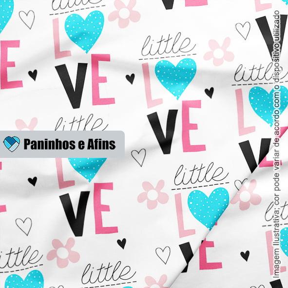 Little Love - Coleção Peace and Love - Linha Signature - Fabricart - 50CM X 150CM