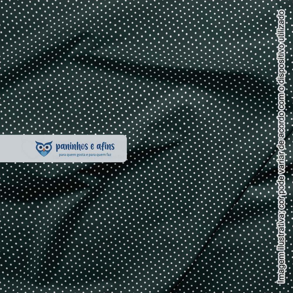Micro Poá Preto - Basics & Colors - Fabricart - 50cm X 150cm