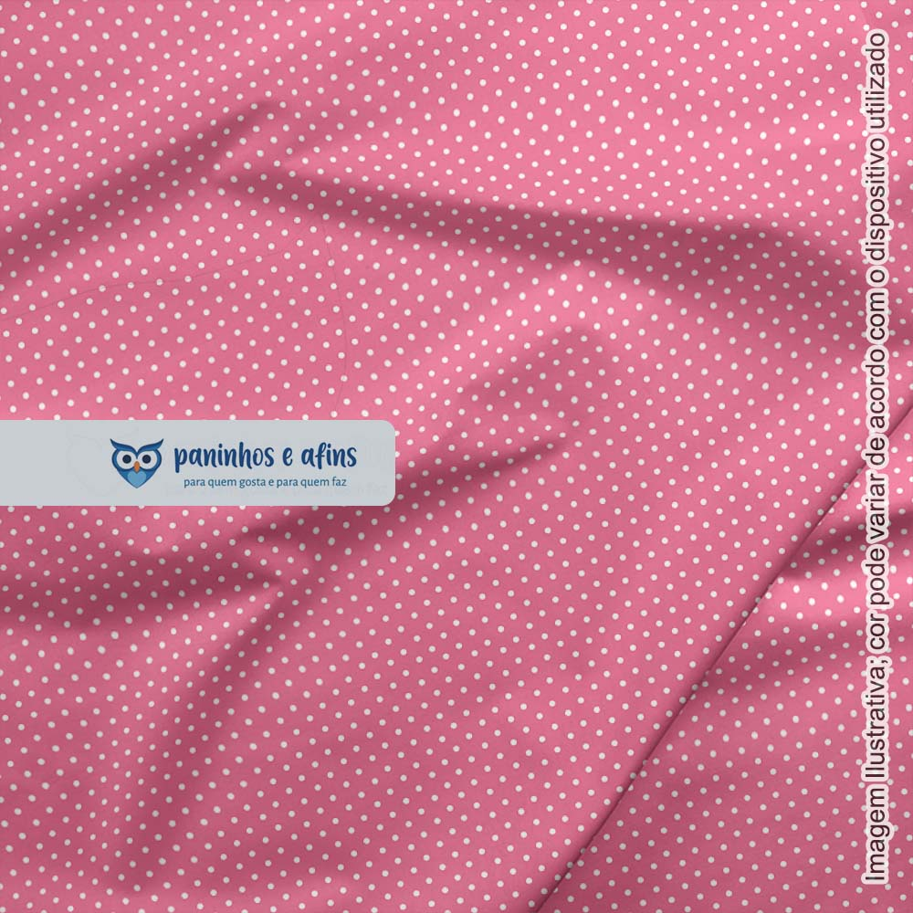 Micro Poá Rosa Serenata - Basics & Colors - Fabricart - 50cm X 150cm
