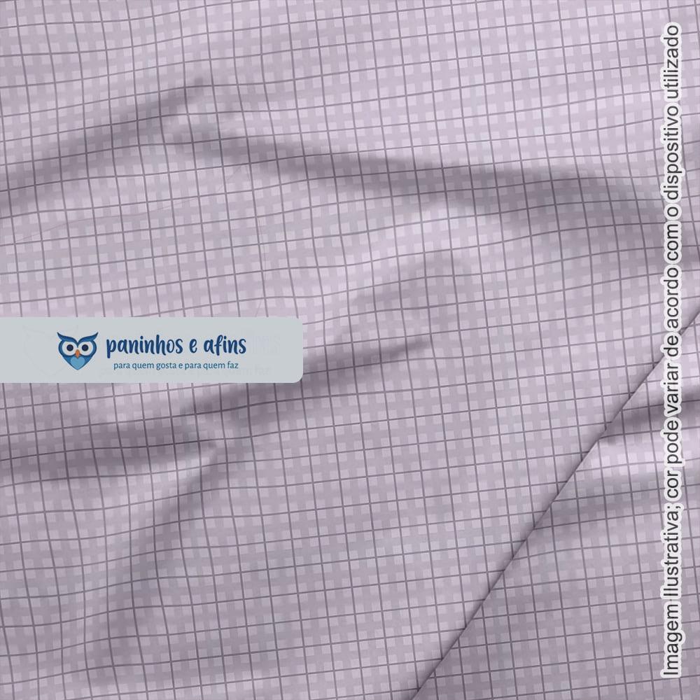 Xadrez Baby Lilás - Coleção Baby Basics - Fuxicos e Fricotes - 50cm x150cm